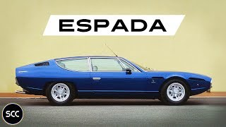 LAMBORGHINI 400 GT ESPADA Series 3 1974 - Modest test drive - V12 Engine sound | SCC TV