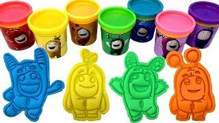 Oddbods Play-Doh Molds & Surprise Toys Zee Newt Slick Fuse Bubbles Pogo Jeff Learn Rainbow Colors