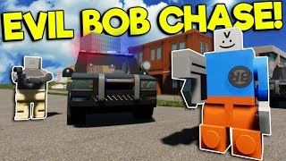 POLICE CHASE EVIL BOB THROUGH LEGO CITY! - Brick Rigs Roleplay Gameplay - New Map Police Story