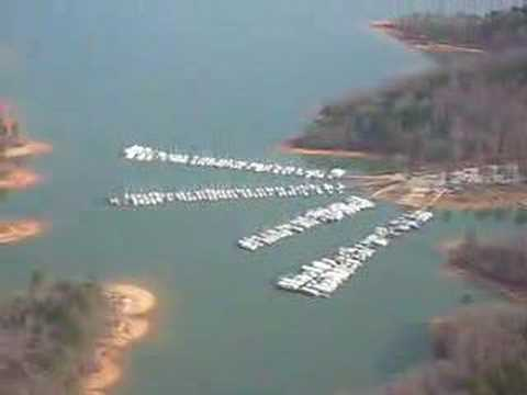 Flying over Steele Creek Marina
