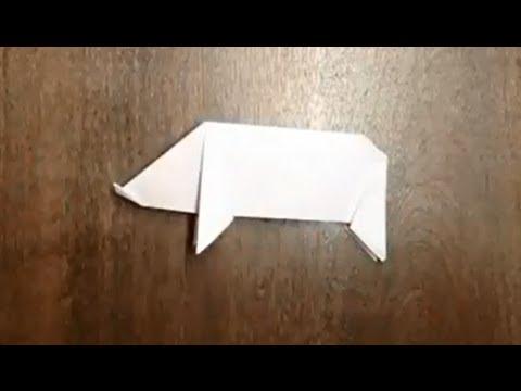 Comment faire un cochon en origami cochon en papier youtube - Comment faire des origami ...