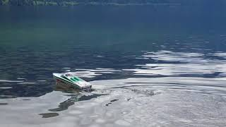 Thrasher RC Jet Boat on a Mountain Top Lake