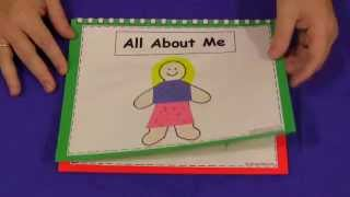 All About Me Book For Preschool and Kindergarten