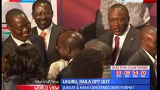 Uhuru and Raila opt out of upcoming presidential debate