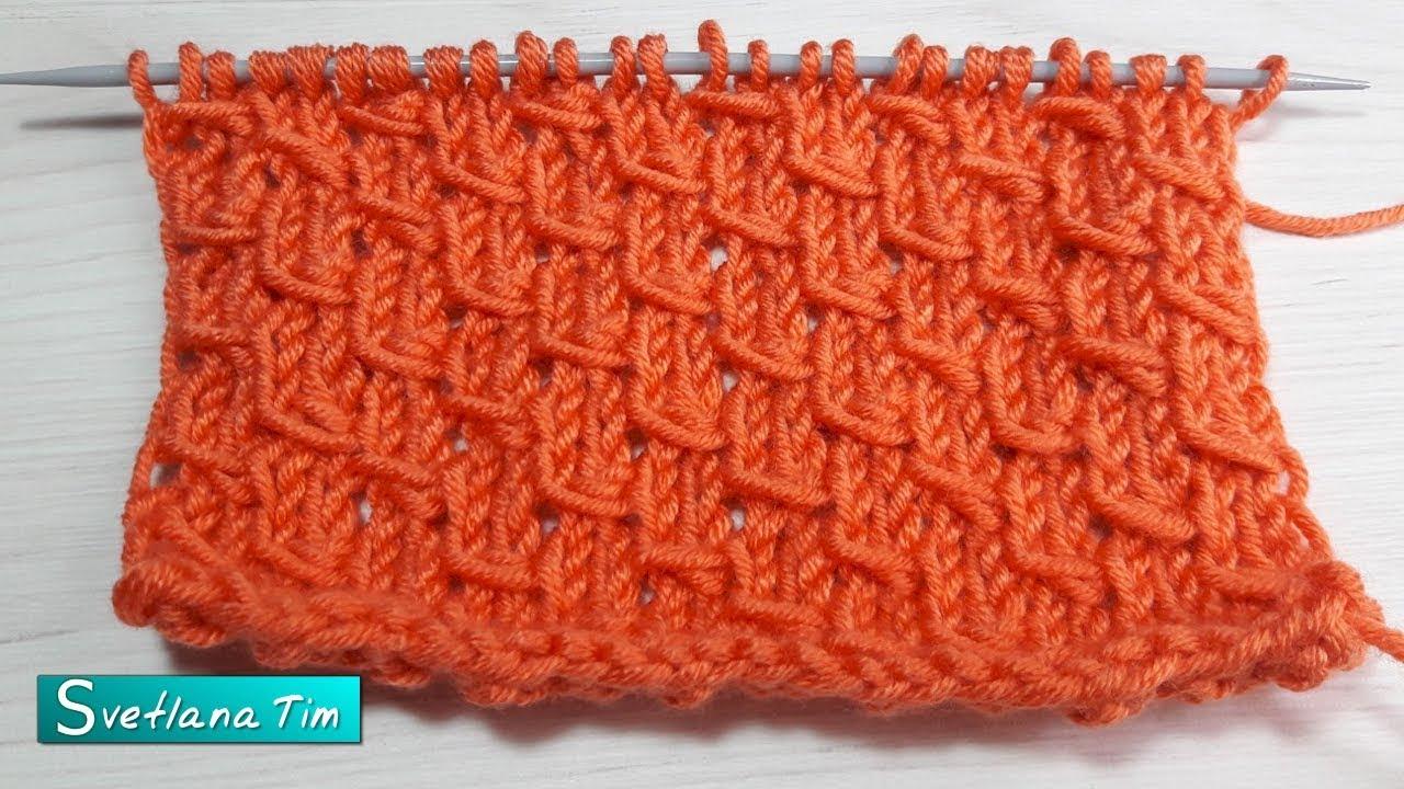 Вязание спицами обвитые петли 30