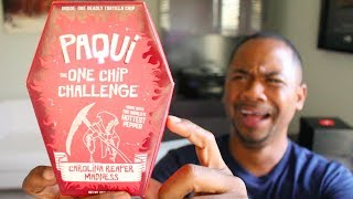 Trying The HOTTEST CHIP In The World   Paqui One Chip Challenge