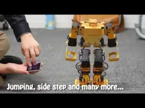 Walky: Operating Method for a Bipedal Walking Robot through Natural Finger Gestures on iPhone