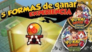 Cómo ganar EXPERIENCIA + Exporbes Legendarios I Trucos Yo-kai Watch 2: Fantasqueletos y Carnánimas