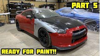 Rebuilding a Wrecked 2010 Nissan GTR Part 5