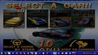 MAME 200- sega model 3 - scud race australia ver attract mode 1080p - uk arcades