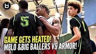 LaMelo Ball Arrives LATE & STILL Flirts w/ Triple Double!! Big Ballers HEATED Game vs Armor Elite!
