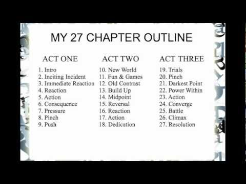 How I Outline 3 Acts 9 Blocks 27 Chapters Youtube