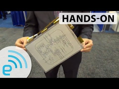 Sony 13.3-inch E Ink Digital Paper hands-on | Engadget at SID 2013