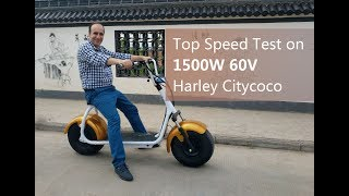 Top Speed Test on 1500W 60V Harley Citycoco ES8004