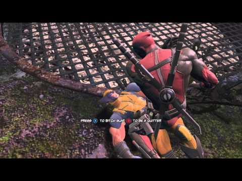 Deadpool The Game - Press X to Bitch Slap Wolverine
