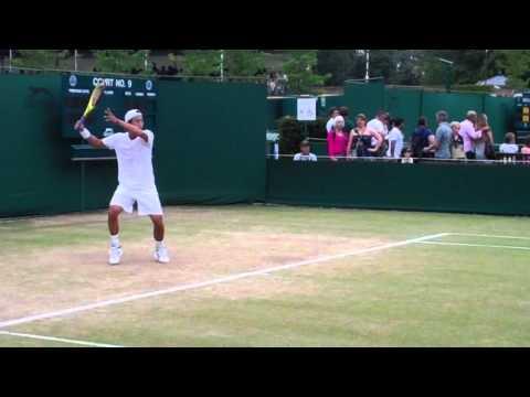 Lu Yen-hsun Practice Session - Wimbledon 2010