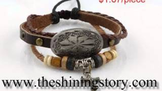 How to buy wholesale leather wrap bracelets