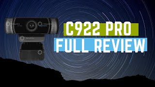 The Logitech C922 Streaming Webcam | Unboxing and full Review.