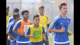 Nepal National Football team train ahead of Yemen Game