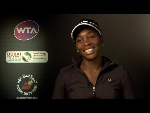 Venus Williams 2014 Dubai Duty Free Tennis Championships QF Interview
