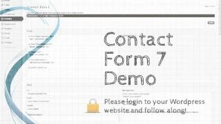 Tutorial: Contact Form 7 (WordPress plugin)