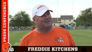 Freddie Kitchens Is Confident on OBJ + Baker Being In Sync | Cleveland Browns