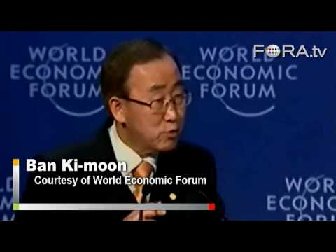 UN Sec-Gen Ban Ki-Moon Advocates for a New Green Economy