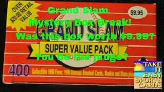 BASEBALL CARD GRAND SLAM VALUE BOX FROM WALMART... WORTH IT?