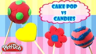 Play Doh Desserts | PlayDoh Cake Pops VS Play Doh Candy - PlayDoh Lollipops