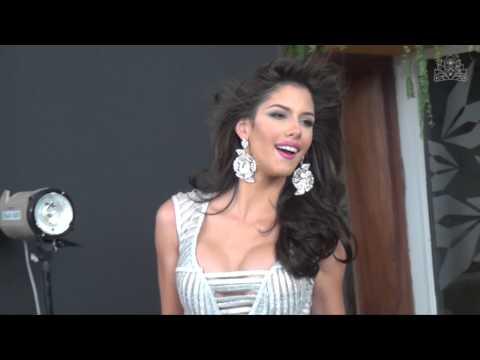 Mariana Jiménez Miss Guárico en el tras cámaras del Photoshoot
