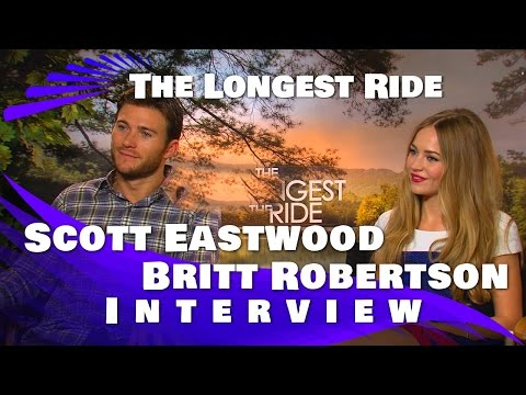 Scott Eastwood and Britt Robertson Interview:The Longest Ride