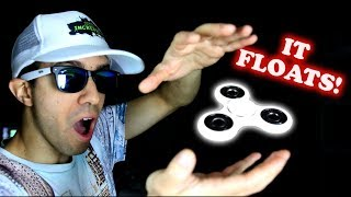 HOW TO MAKE FIDGET SPINNERS FLOAT! EASY DIY MAGIC TRICK WITH A HAND SPINNER