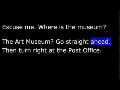 English USA, Lesson 06, Part 1- Directions to museum