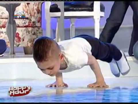 Worlds Strongest Boy Smashes Record With Incredible Series of Air Push-Ups