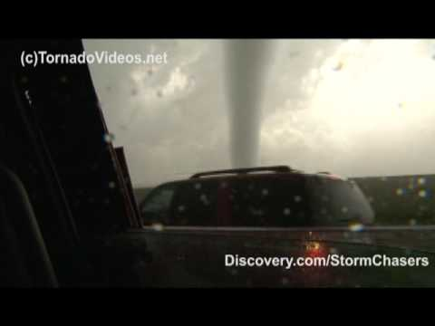 Extreme video from inside the Goshen co, Wyoming tornado on June 5, 2009 from the TornadoVideos.net SRV Dominator. Wind data was collected as the tornado pas...