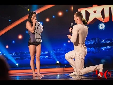 Marriage proposal in Ukraine Got Talent - Duo Flame