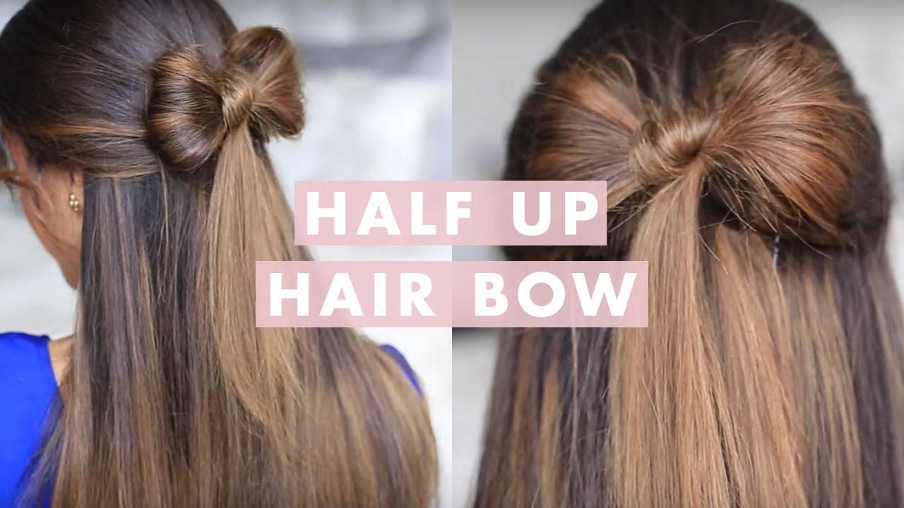 Half Up Hair Bow Cute Hair Tutorial Youtube