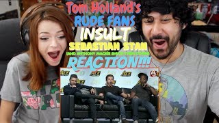 Tom Holland 39 S Rude Fans Insult Sebastian Stan Anthony Mackie Shuts Them Down Reaction