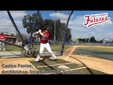CARLOS FARIAS, C, ARCHBISHOP STEPINAC HIGH SCHOOL CLASS OF 2015, SWING MECHANICS AT 200 FPS - 02/11/2014