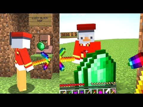 Ich klaue die Emeralds von Rippeax als Fake Villager😂.. Minecraft LUCKY BLOCK BEDWARS