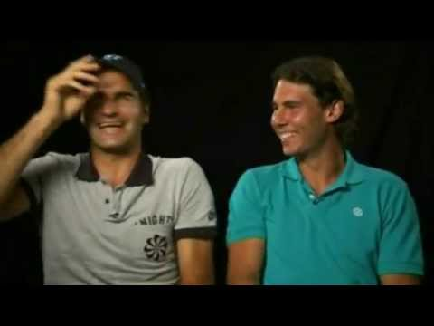 Federer and Nadal: Fit of Laughter During Shooting Video
