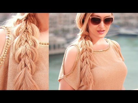 Dragon Tail ★ Crescent Moon scissor braid ❤ Hairstyle for long hair tutorial - NEW TECHNIQUE!!!