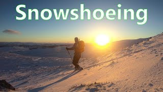 Snowshoeing firsts - breaking my snowshoeing virginity !