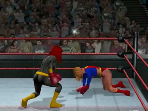 Boxing - Supergirl vs Batgirl (HD) Video