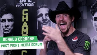 Donald Cerrone eyeing Conor McGregor fight: 'In Ireland, Let's Go' | UFC on ESPN+1 Media Scrum