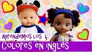 💚💙Learning COLORS with BABY DOLLS 💜💛 Aprendemos los COLORES en INGLES