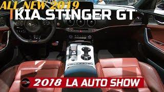 2019 Kia Stinger GT  Exterior and Interior Walkaround - 2018 LA Auto Show
