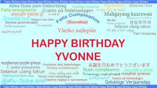 Yvonne   Languages Idiomas - Happy Birthday