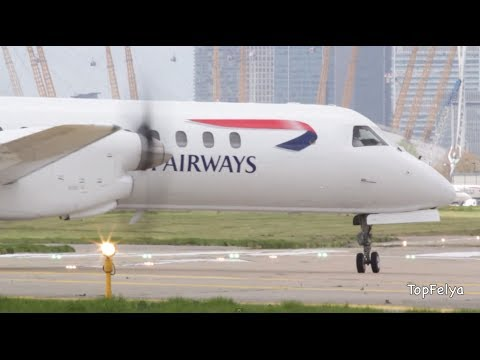 London City airport close up takeoffs