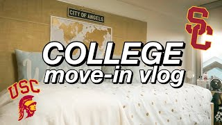 USC FRESHMAN YEAR DORM MOVE-IN VLOG